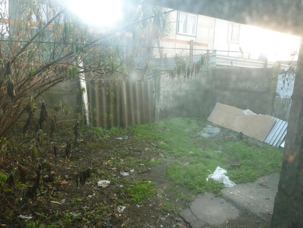 Patio trasero de casa barata en arriendo en Pedro del Rio Zañartu, Los Carrera Poniente, Concepción centro