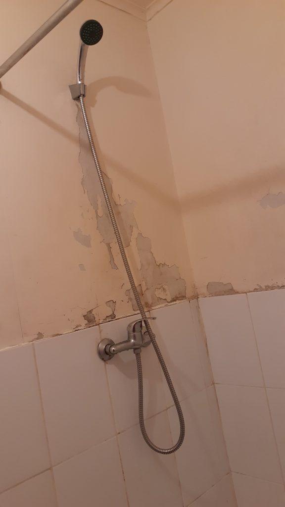 Ducha de baño de de departamento económico 1 pieza barato centro Bulnes Concepción