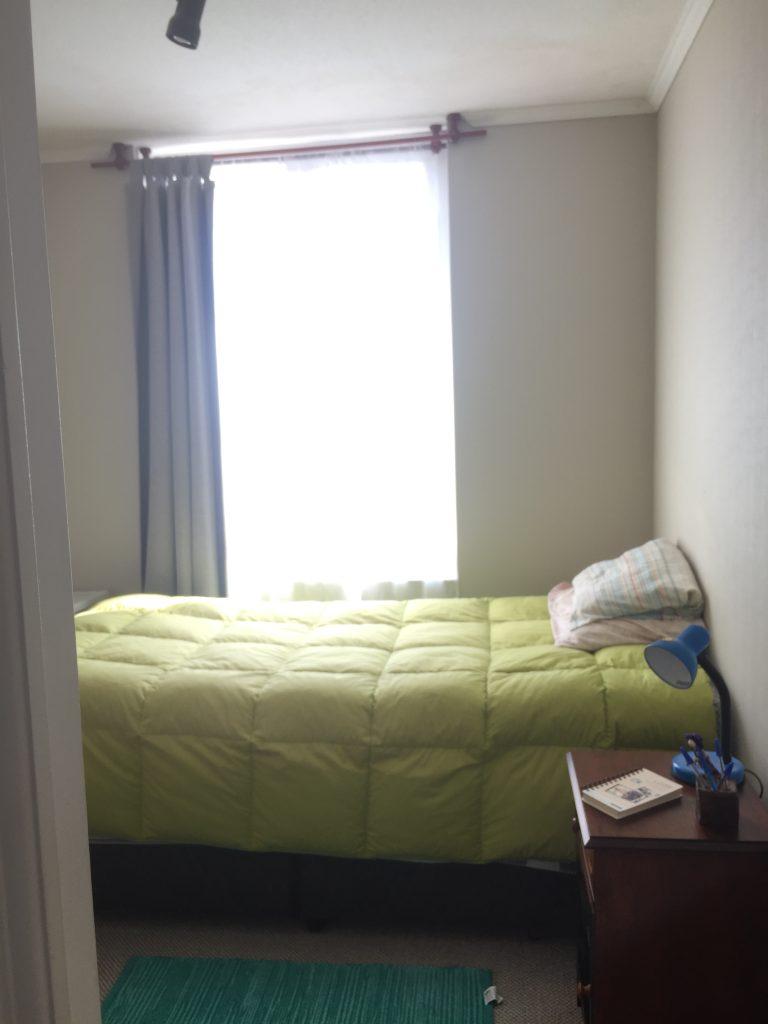 Dormitorio pequeño o de servicio en arriendo departamento Concepción Lomas de San Sebastián 2 dormitorios